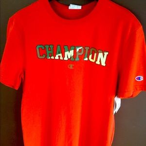 Champion Heritage Burn Orange Tee size M